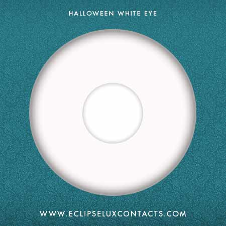 Halloween Crazy Contact Lens White
